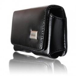 Housse Coque étui Ceinture Horizontal Noir Aimanté Pour Motorola Moto G 2ème Génération