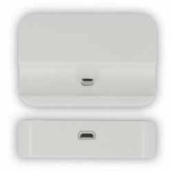 Dock Station d'Accueil Charge MicroUSB Blanc Pour Galaxy Core 4G