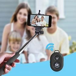Perche Télescopique Selfie télécommande Bluetooth Noir
