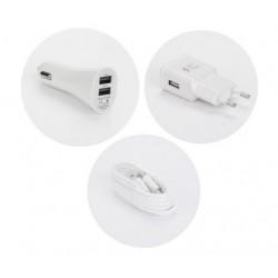 Chargeur 3 en 1 Secteur / Voiture / USB Pour Huawei P20 Lite