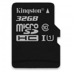 Carte Mémoire Kingston 32 GO Classe 10 + Adaptateur Pour Wiko TOMMY / JERRY / ROBBY