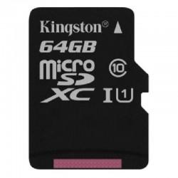 Carte Mémoire Kingston 64 GO Classe 10 + Adaptateur Pour Wiko LENNY 2 & 3